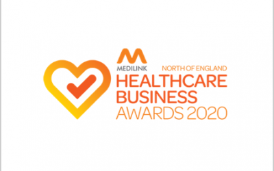 Cievert presented with an award at the Medilink North of England Healthcare Business Awards evening!